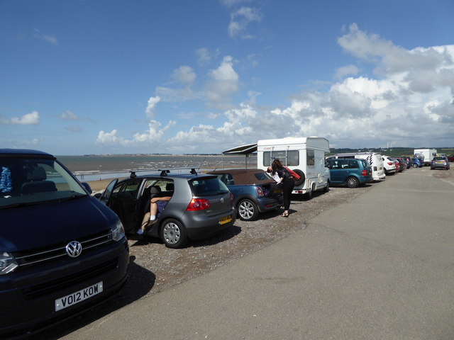In the car park at Ogmore-by-Sea in August
