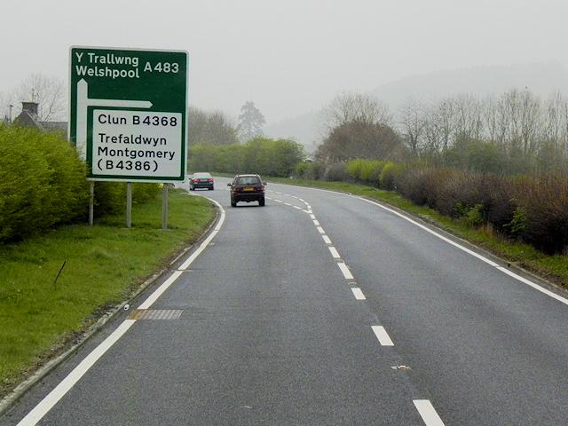 A483 near Maeshafren