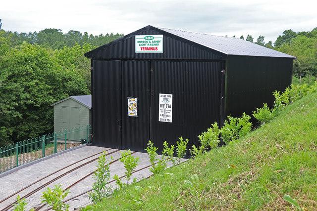 Statfold Barn Railway - tram shed