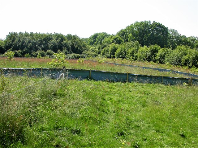 Reptile/amphibian exclusion fence in Marline Valley
