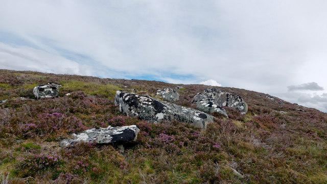 Rocks below the summit of Meall Doir' a' Chuilinn