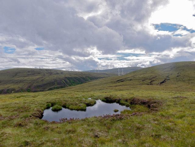 Lochan on the hillside