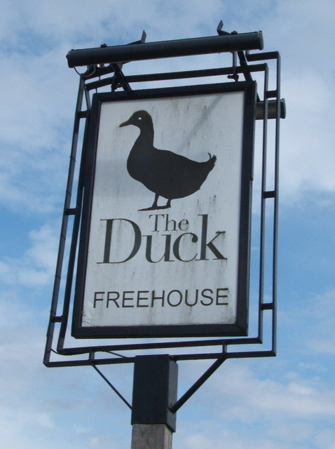 Sign for the Duck public house, Newney Green