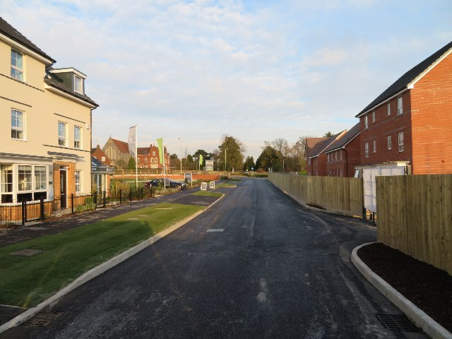 Main access to new housing