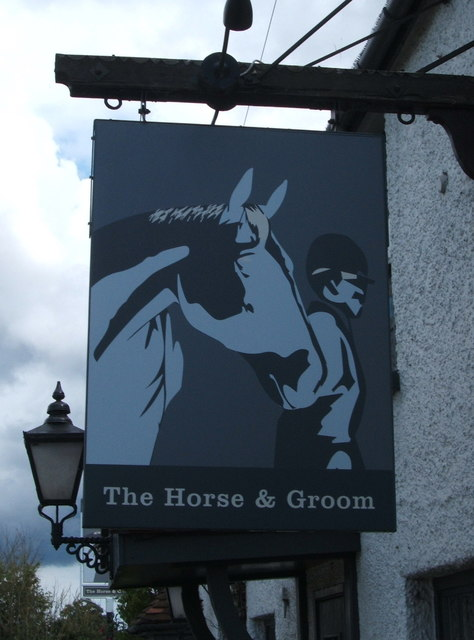 Sign for the Horse and Groom public house
