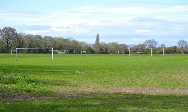 Football pitches, Newbold Comyn Park, Royal Leamington Spa