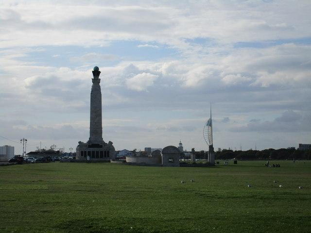 War memorial and Spinnaker Tower