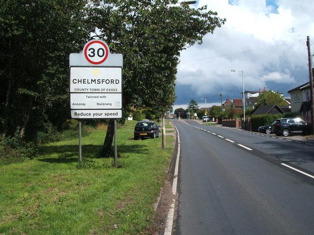 Entering Chelmsford