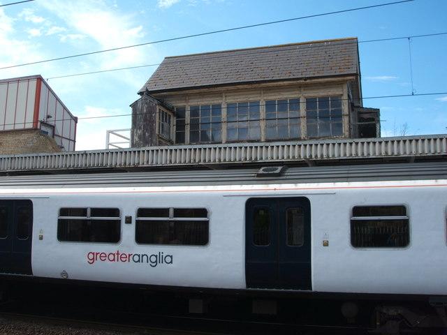 Signal box above Platform 2, Chelmsford Railway Station