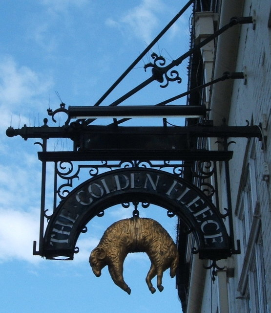 Old sign for the Golden Fleece, Chelmsford