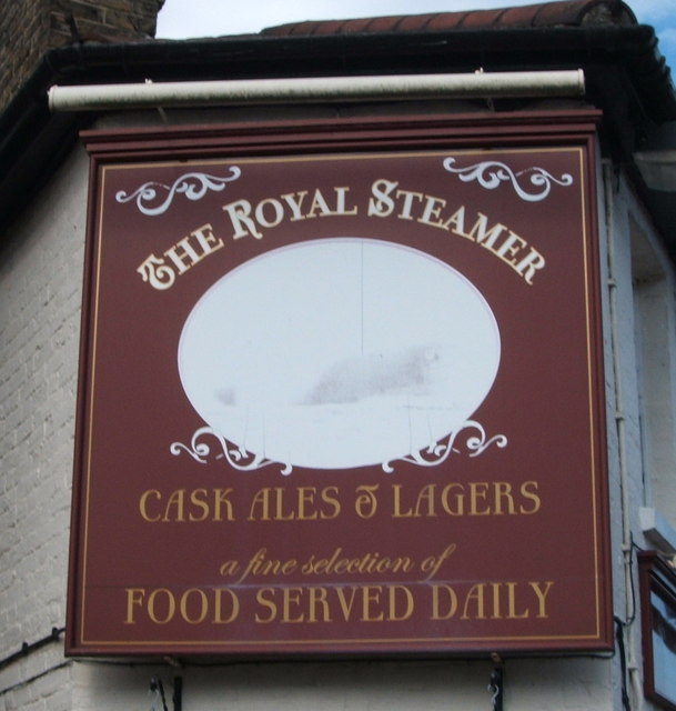 Sign on the Royal Steamer public house, Chelmsford