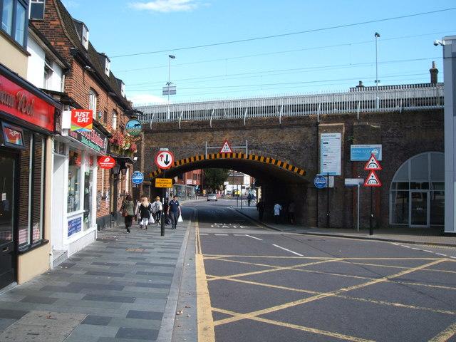 Low railway bridge over Duke Street, Chelmsford