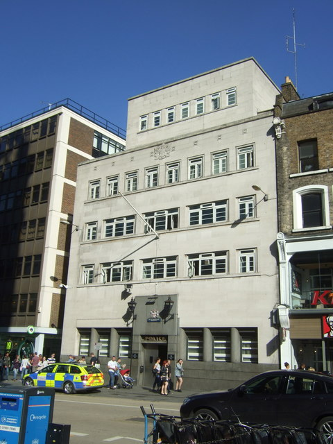 Police Station on Bishopsgate, London