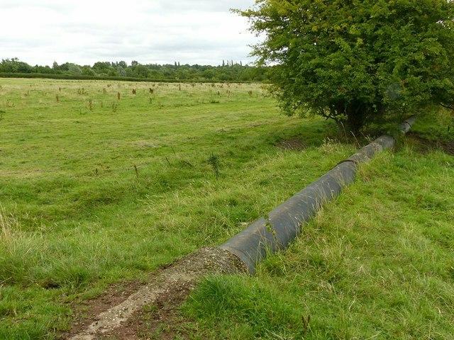 Pipe across the fields