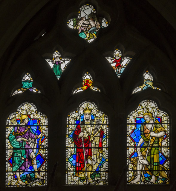 Stained glass window, Exeter Cathedral
