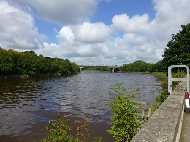 The A59 bridge crossing the River Ribble