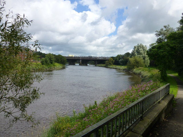 Ribble Viaduct from Riverside Road