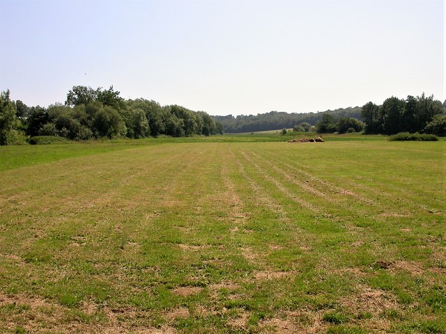 Mown hayfield in the Line Valley at Whatlington