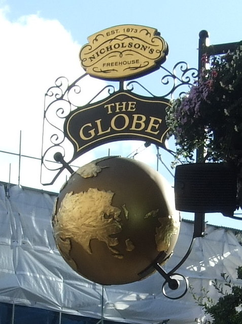 Sign for the Globe public house, London
