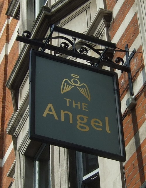 Sign for the Angel Free House, London