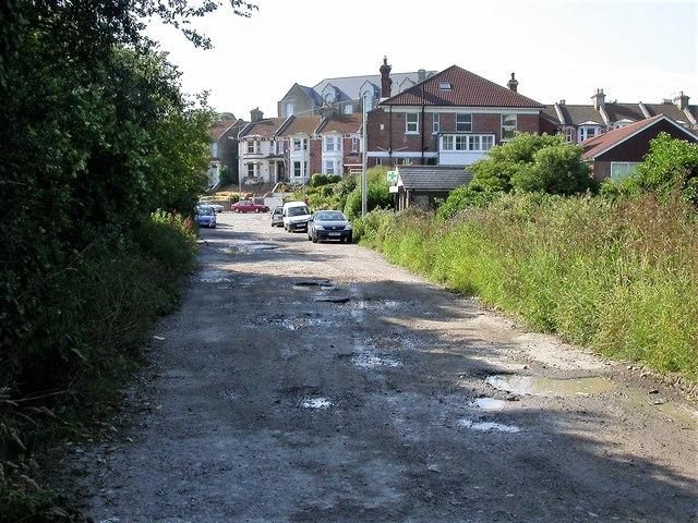 Lodge Road, Belmont looking towards Harold Road