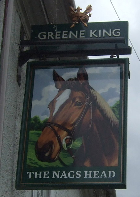 Sign for the Nags Head, Moreton