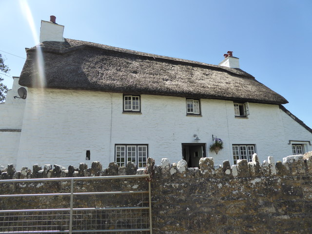 Thatched house at Ogmore