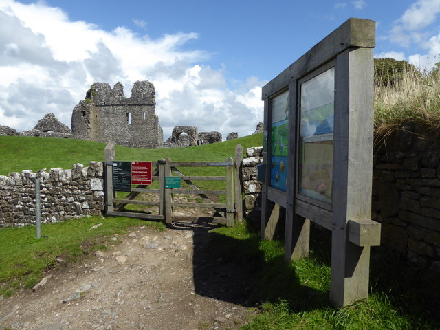 Part of Ogmore Castle