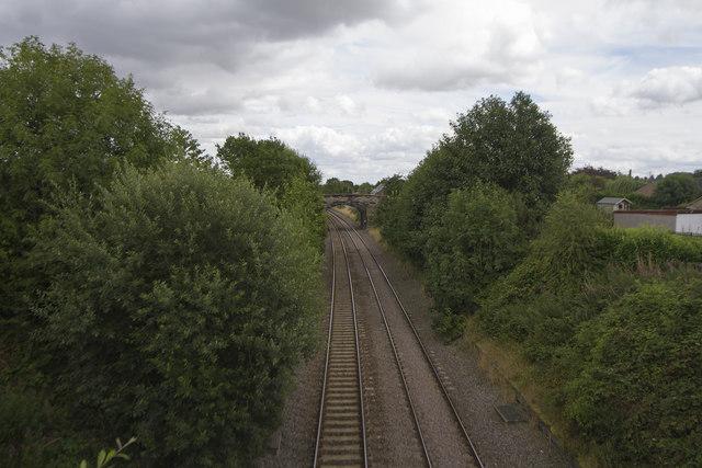 Tracks through Weston