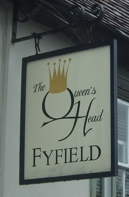 Sign for the Queens Head, Fyfield