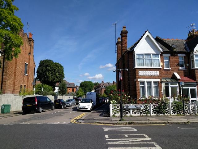 Corner of Berkley Road and Coleridge Road