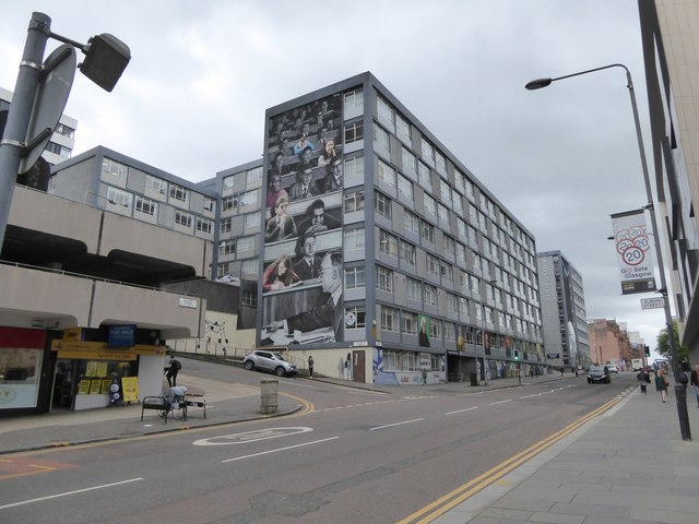 Mural on wall of Strathclyde University