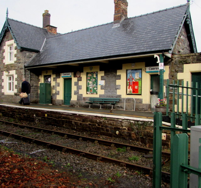 Southeast end of Caersws railway station
