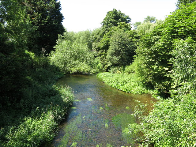The River Colne, south of Oxford Road, Uxbridge