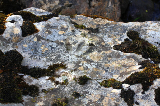 Benchmark on rock in Smithy Gill