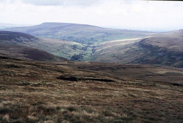 View over Walden Moor