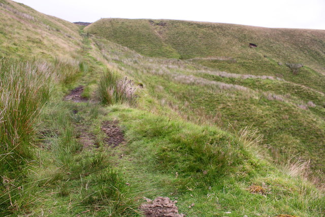 Ascending the Pennine Bridleway at High Dolpinsty