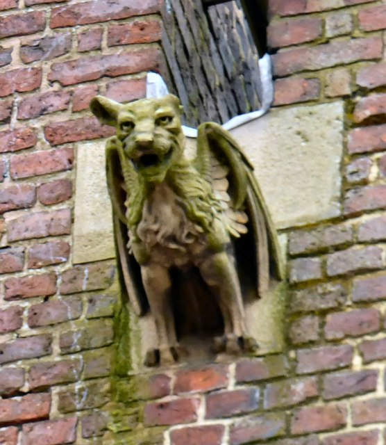 A gargoyle on St Benedict's