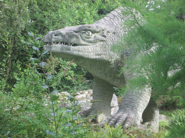 Megalosaurus lurking behind the trees