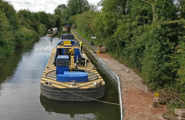 Repairing the damaged towpath