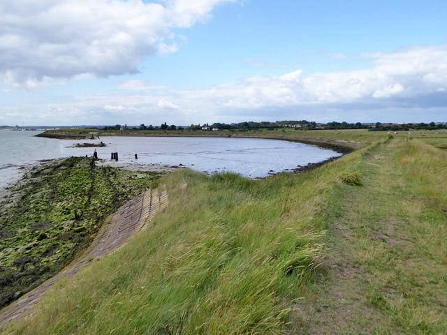 Site of 1897 seawall breach, Bluehouse Farm, North Fambridge