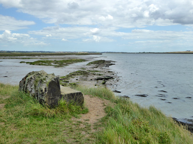 Site of 1897 seawall breach, Bluehouse Farm, North Fambridge