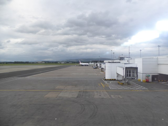 The central pier at Glasgow Airport