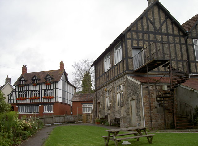 Blagdon village hall and the Rent House
