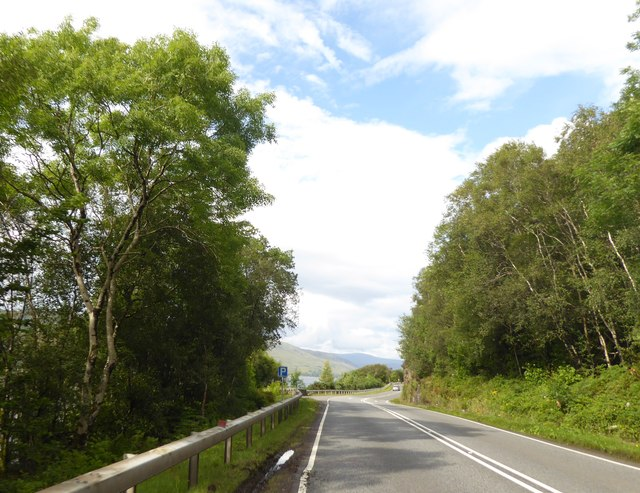 Lay-by on A82 at Port nam Meirleach
