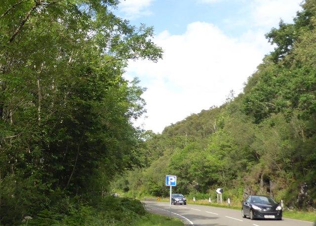 Roadside parking place on A82