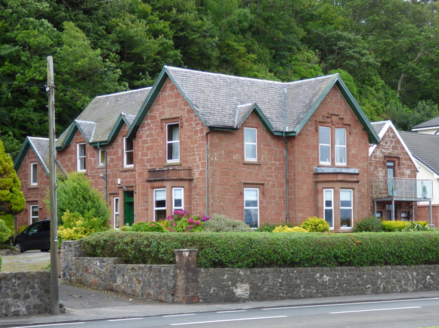 Red sandstone house on Shore Road