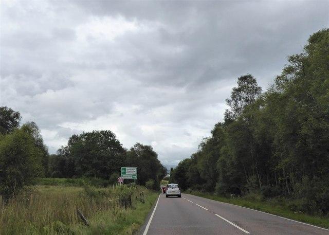 A82 west of Aonachan