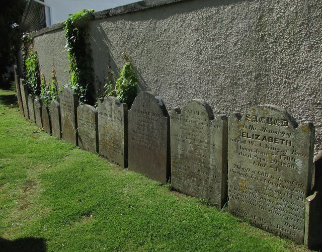 Gravestones, St Andrew's churchyard, Torre