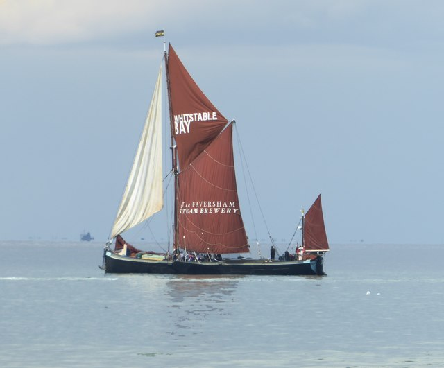 Sailing-barge 'Greta' heading for Whitstable